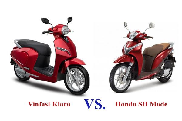 Xe máy điện Vinfast Klara và SH Mode: Xe nào kinh tế hơn?