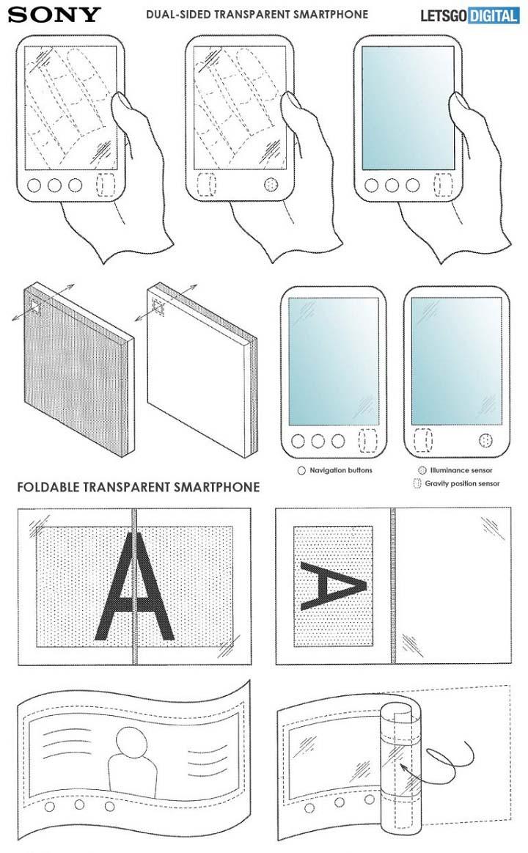 Sony đang phát triển smartphone màn hình gập có thể nhìn xuyên thấu?