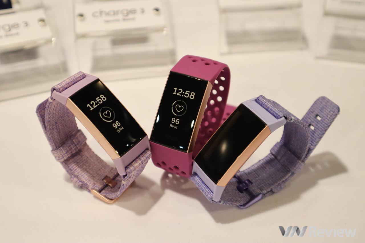 Fitbit Charge 3 chính thức về Việt Nam: chống nước 50 mét, dự đoán được kinh nguyệt, giá từ 3,8 triệu đồng