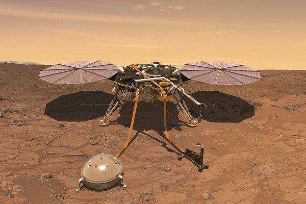"""Chùm ảnh mới nhất chụp từ robot thăm dò InSight đang """"ngao du"""" trên bề mặt Sao Hỏa"""