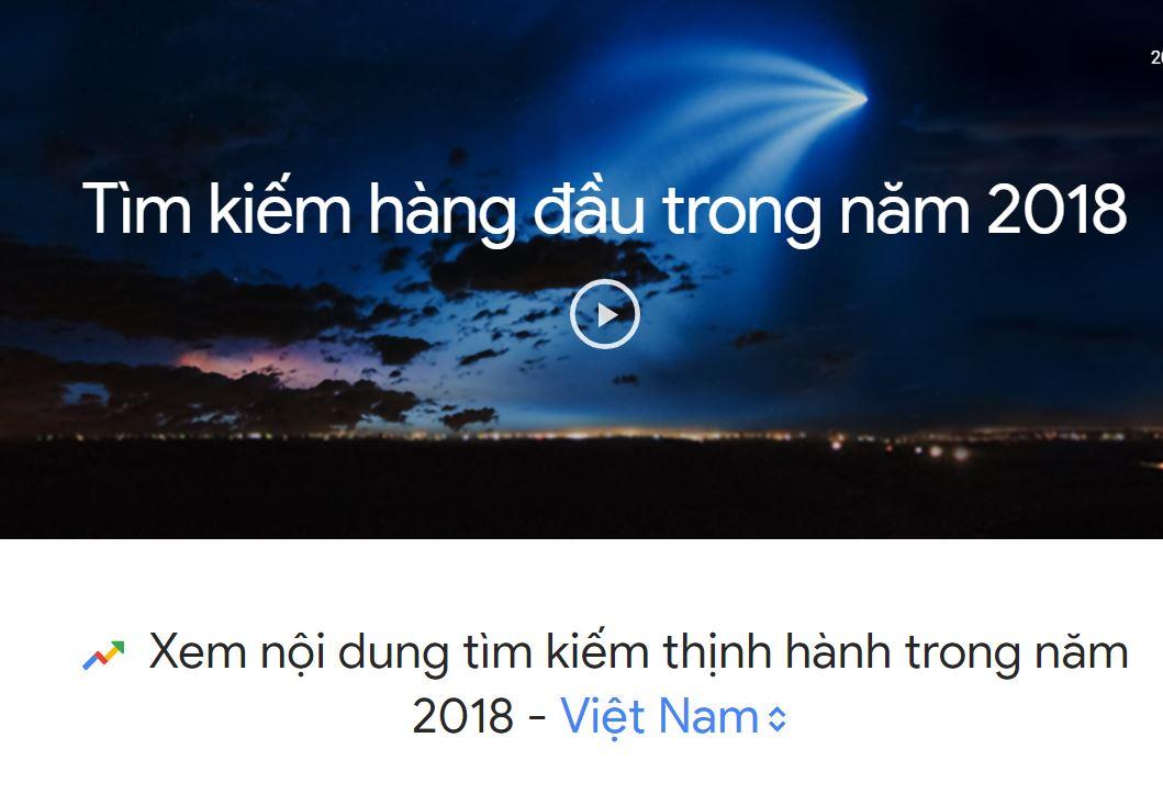 """Không tìm kiếm """"giá vàng"""" nữa, vậy người Việt google gì nhiều nhất năm 2018?"""