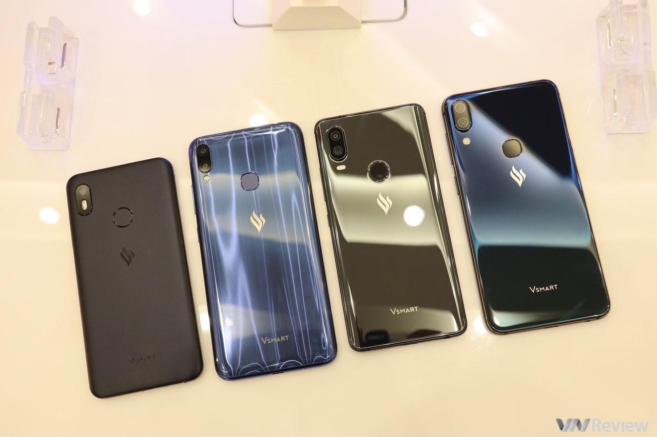 4 smartphone Vsmart chính thức ra mắt với giá từ 2,5 đến 6,3 triệu đồng, quyết cạnh tranh với Xiaomi, Huawei