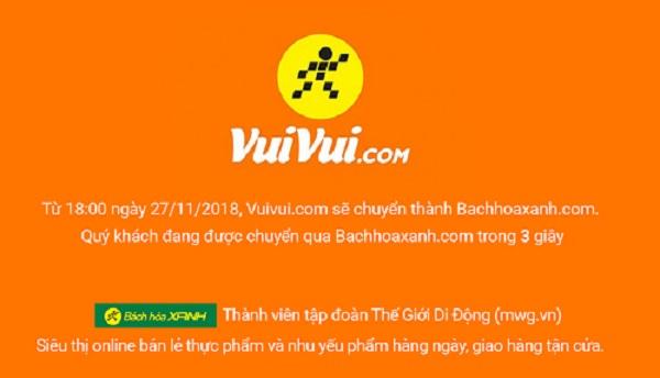 Thế giới Di Động đóng cửa trang thương mại điện tử Vuivui