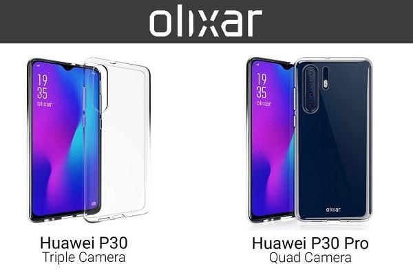 """Hãng ốp lưng để lộ thiết kế Huawei P30/P30 Pro với màn hình """"giọt nước"""", 4 camera sau"""