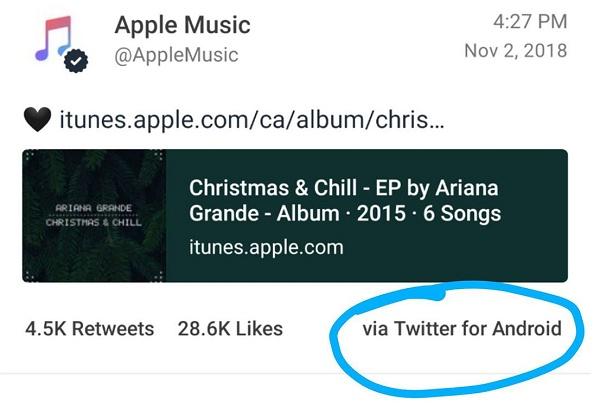 """Trời ơi tin được không: Apple bị """"bắt quả tang"""" đăng bài lên Twitter bằng... điện thoại chạy Android"""