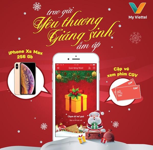 Viettel tặng quà may mắn dịp Giáng sinh cho khách dùng ứng dụng My Viettel