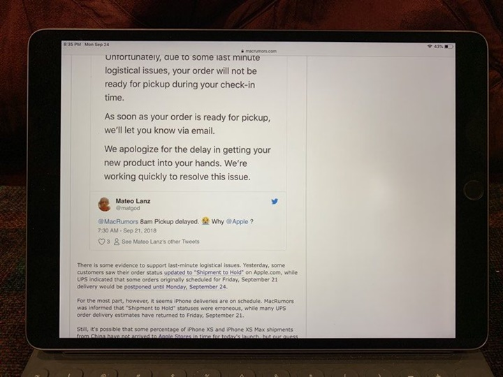 iPad Pro 2017 xuất hiện điểm sáng bất thường, Apple sửa chữa giá chỉ khoảng 14 triệu