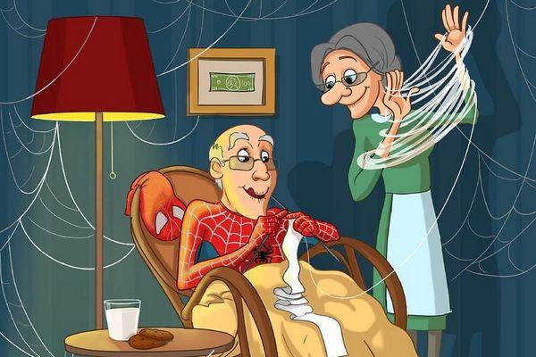 [Hài hước] Các siêu anh hùng khi về già trông sẽ như thế nào?