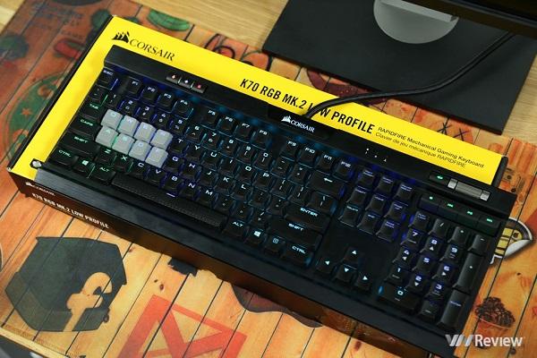 Đánh giá bàn phím cơ Corsair K70 RGB Mk.2 Low Profile Rapidfire: Tiên phong cho một trào lưu mới?