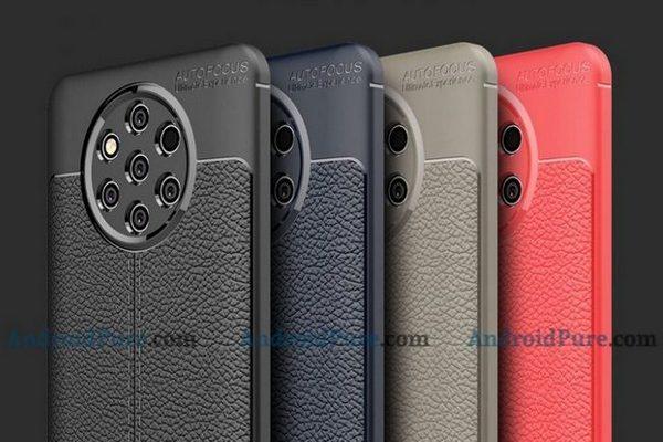 Lộ ảnh ốp lưng da của Nokia 9 PureView với 5 camera ở mặt sau