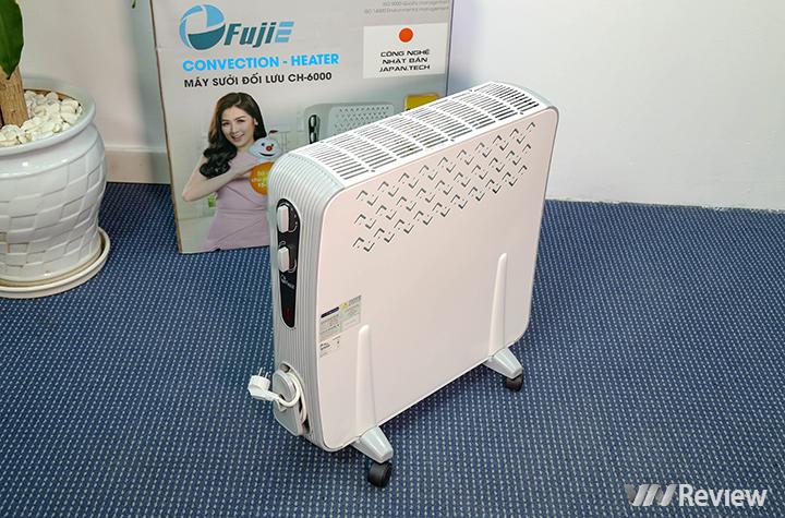 Trên tay máy sưởi đối lưu Fujie CH6000 giá mềm, chỉ 1 triệu đồng