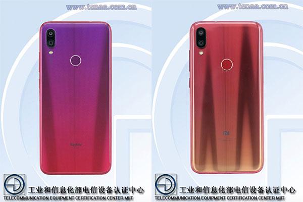 Redmi Note 7 và Redmi 7 xuất hiện trên TENAA với camera kép, màu gradient bắt mắt
