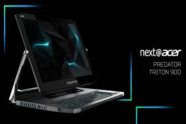 [CES 2019] Acer Predator Triton 900: laptop chơi game 4000 USD, màn hình xoay