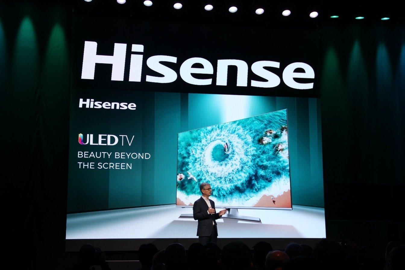 [CES 2019] Hisense ra mắt màn hình microLED 145 inch, TV LCD phát âm thanh từ màn hình
