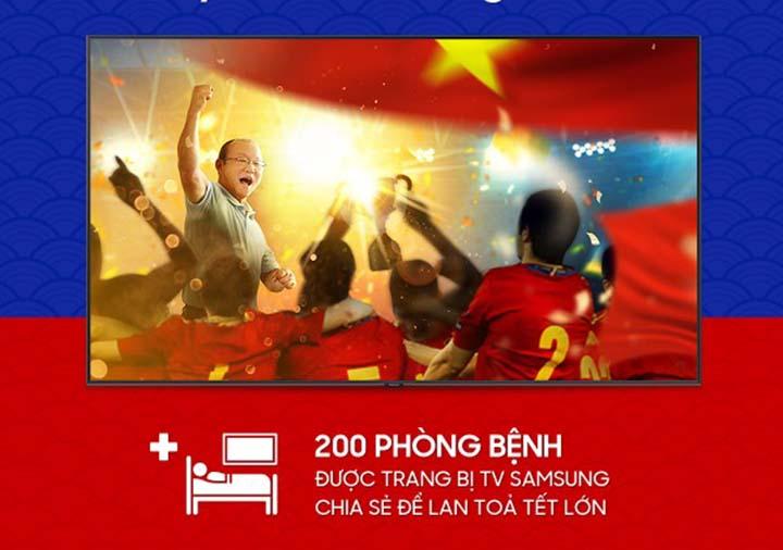 Samsung tặng 200 Smart TV cho 4 bệnh viện lớn ở TP.HCM và Hà Nội