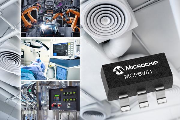 Microchip ra mắt bộ khuếch đại thuật toán zero-drift MCP6V51 giúp giảm ảnh hưởng của nhiễu tần số