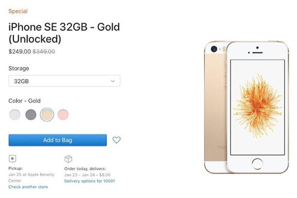 """Apple bất ngờ """"xả kho"""" iPhone SE, giá từ 5,8 triệu đồng"""