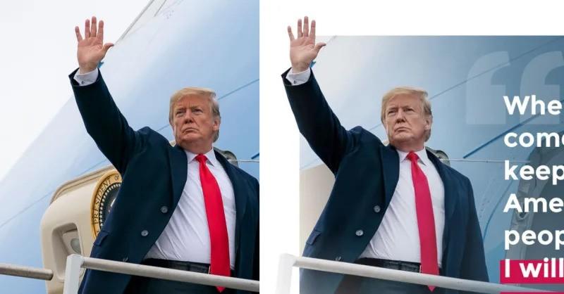 """[Thánh soi] Tổng thống Mỹ """"trùm"""" sửa ảnh cho đẹp hơn trước khi đăng Facebook, Instagram"""