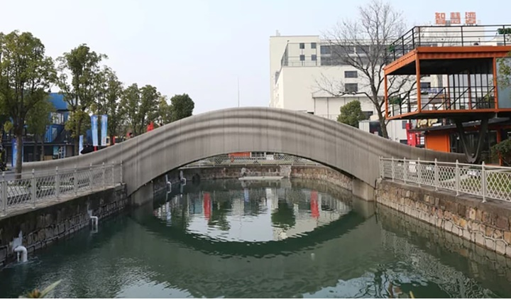 Thượng Hải xây dựng cầu bê tông in 3D dài nhất thế giới