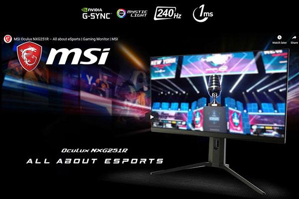 """Màn hình MSI giờ đã có NVIDIA """"G-Sync Compatible"""""""