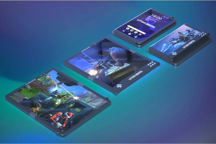 Samsung nộp bằng sáng chế cho một chiếc smartphone kiêm thiết bị chơi game độc đáo