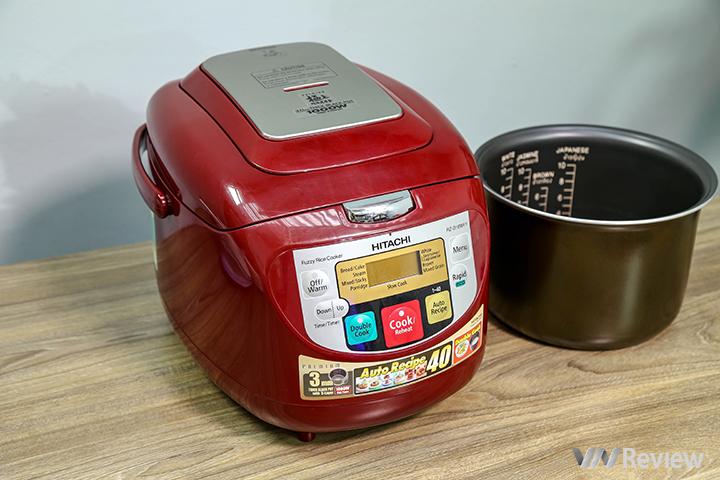 Đánh giá nồi cơm điện tử Hitachi RZ-D18WFY: rất hợp cho nhu cầu nấu đa năng
