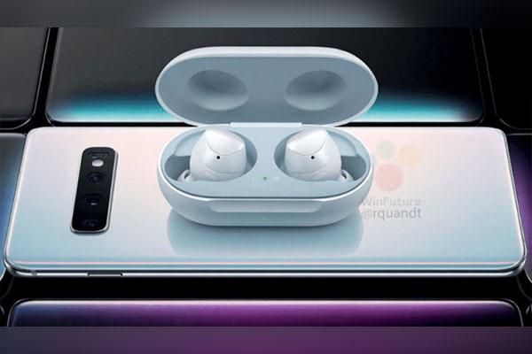 Rò rỉ tai nghe Galaxy Buds, có thể sạc không dây bằng Galaxy S10