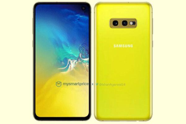 """Lộ ảnh Galaxy S10e """"vàng chim yến"""", xác nhận cảm biến vân tay ở cạnh phải"""