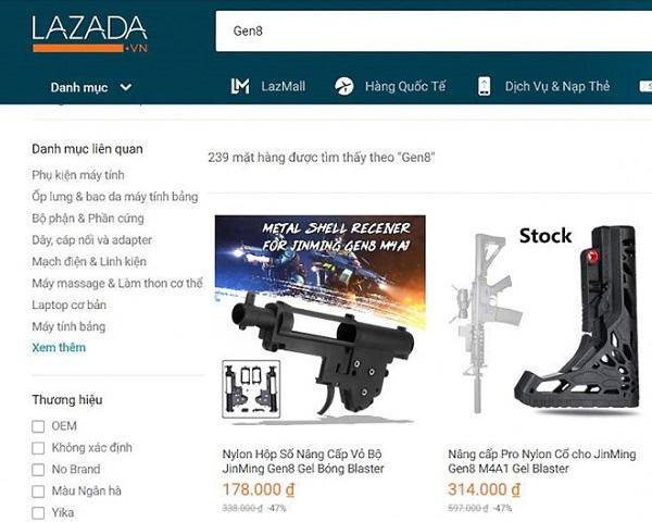 TP.HCM vào cuộc quyết liệt vụ Lazada bán thiết bị lắp súng