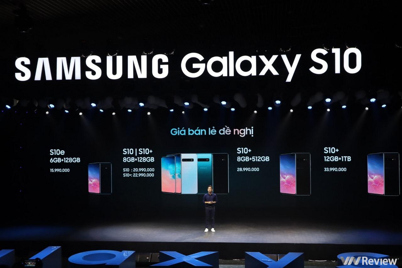 Samsung Galaxy S10 S10+ S10e chính thức ra mắt tại Việt Nam, giá từ 15,99 triệu, bán ra từ 8/3