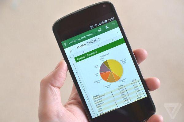 App Microsoft Excel cho phép biến ảnh thành bảng số liệu
