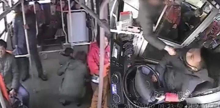 Mẹ giúp đứa trẻ đi tiểu vào thùng rác trên xe buýt công cộng, tấn công tài xế vì bị chê không văn minh