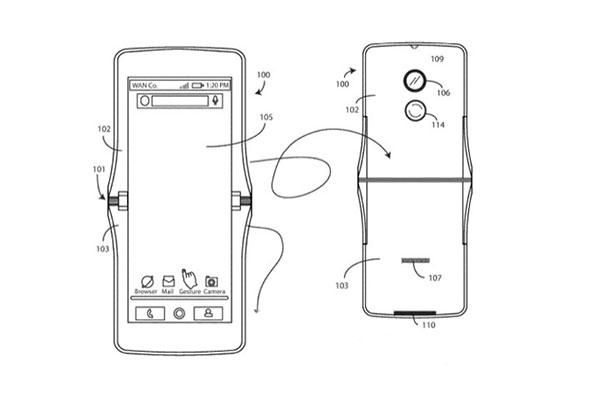 Smartphone gập của Motorola có thiết kế vỏ sò, 2 màn hình
