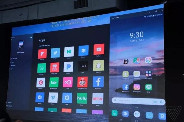 Microsoft thử đưa Android lên Windows 10 với tính năng screen mirroring beta mới