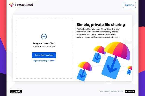 Mozilla thêm tính năng chia sẻ file mã hóa Firefox Send - VnReview