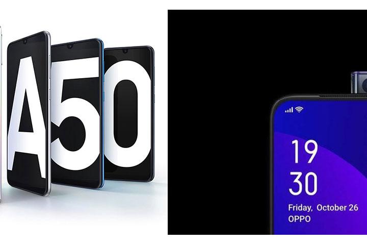 """So sánh cấu hình Galaxy A50 và Oppo F11 Pro: chọn """"giọt nước"""" hay camera thụt thò?"""
