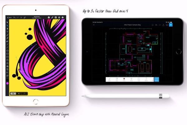 Apple nâng cấp iPad mini với chip A12 Bionic, thiết kế không đổi, hỗ trợ Apple Pencil