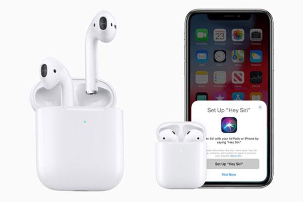 Apple trình làng AirPods mới: chip H1, case sạc không dây, Hey Siri rảnh tay