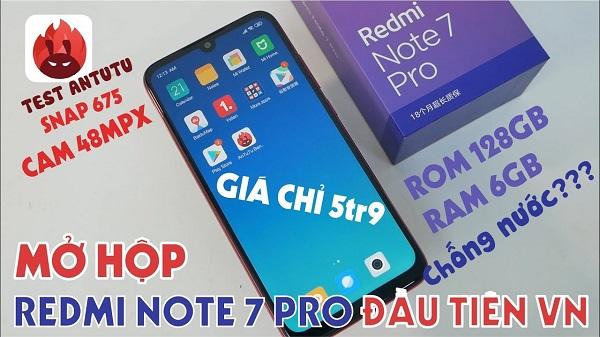 Mở hộp Xiaomi Redmi Note 7 Pro đầu tiên tại VN: Snapdragon 675, cảm biến Sony 48MP, có chống nước?