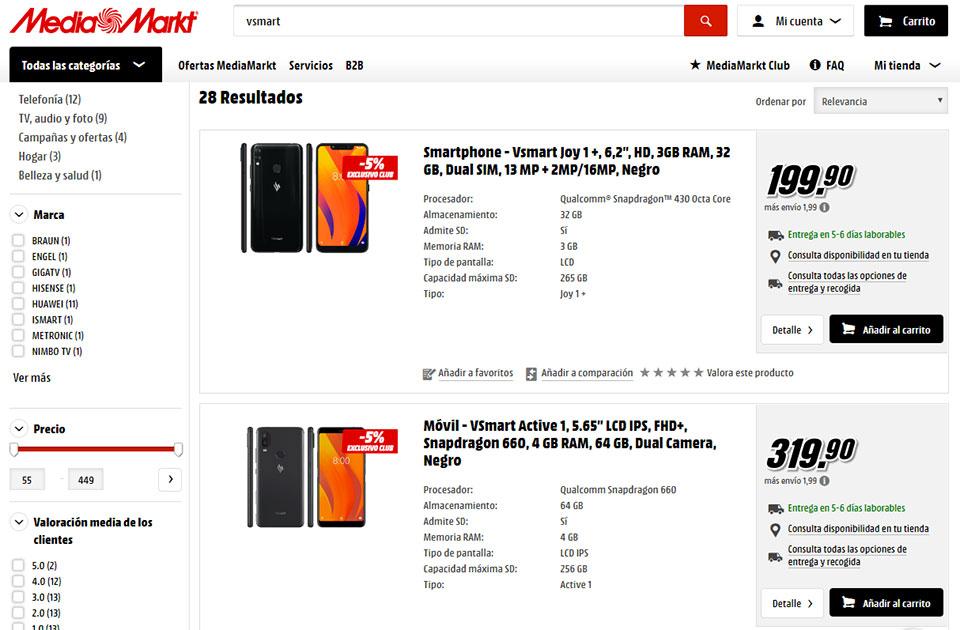 Bất ngờ với giá điện thoại Vsmart chính thức tại Tây Ban Nha
