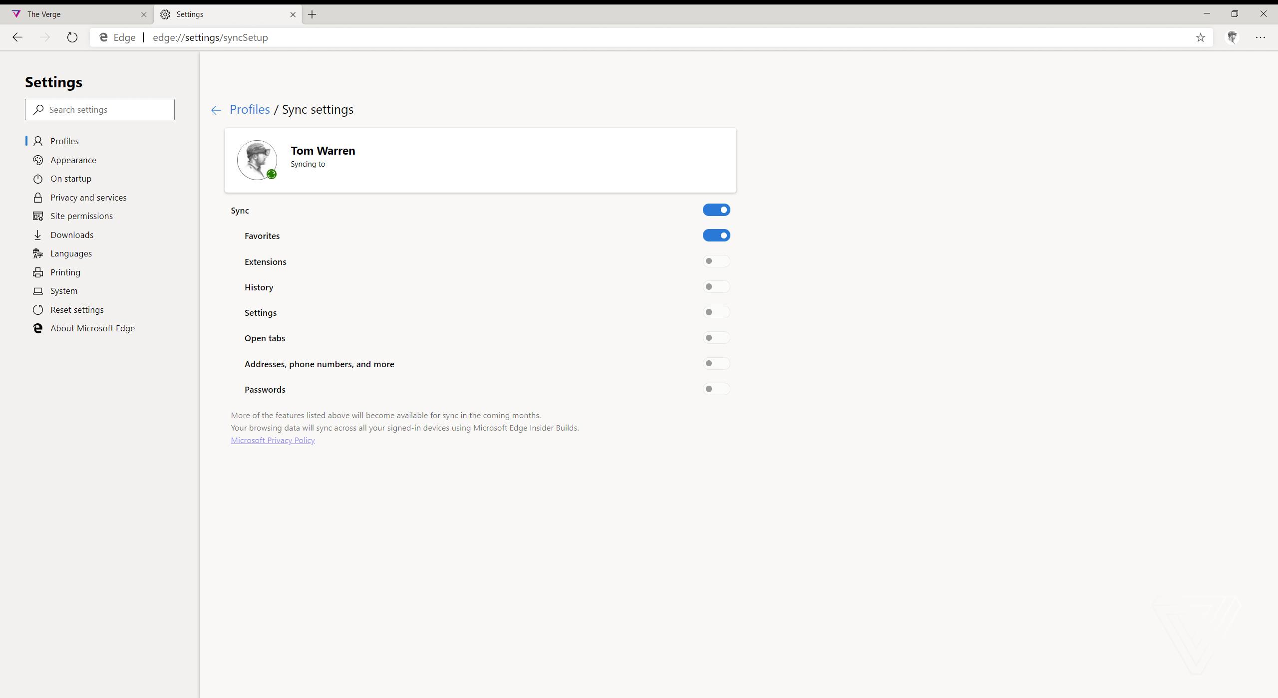 Những hình ảnh đầu tiên về trình duyệt Microsoft Edge mới dựa trên nhân Chromium 4