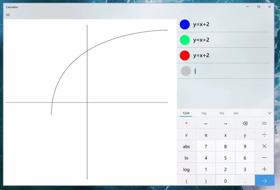 vẽ đồ thị bằng Calculator trên windows