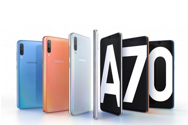 Samsung Galaxy A70 ra mắt: màn hình 6,7 inch, 20:9, 3 camera 32MP