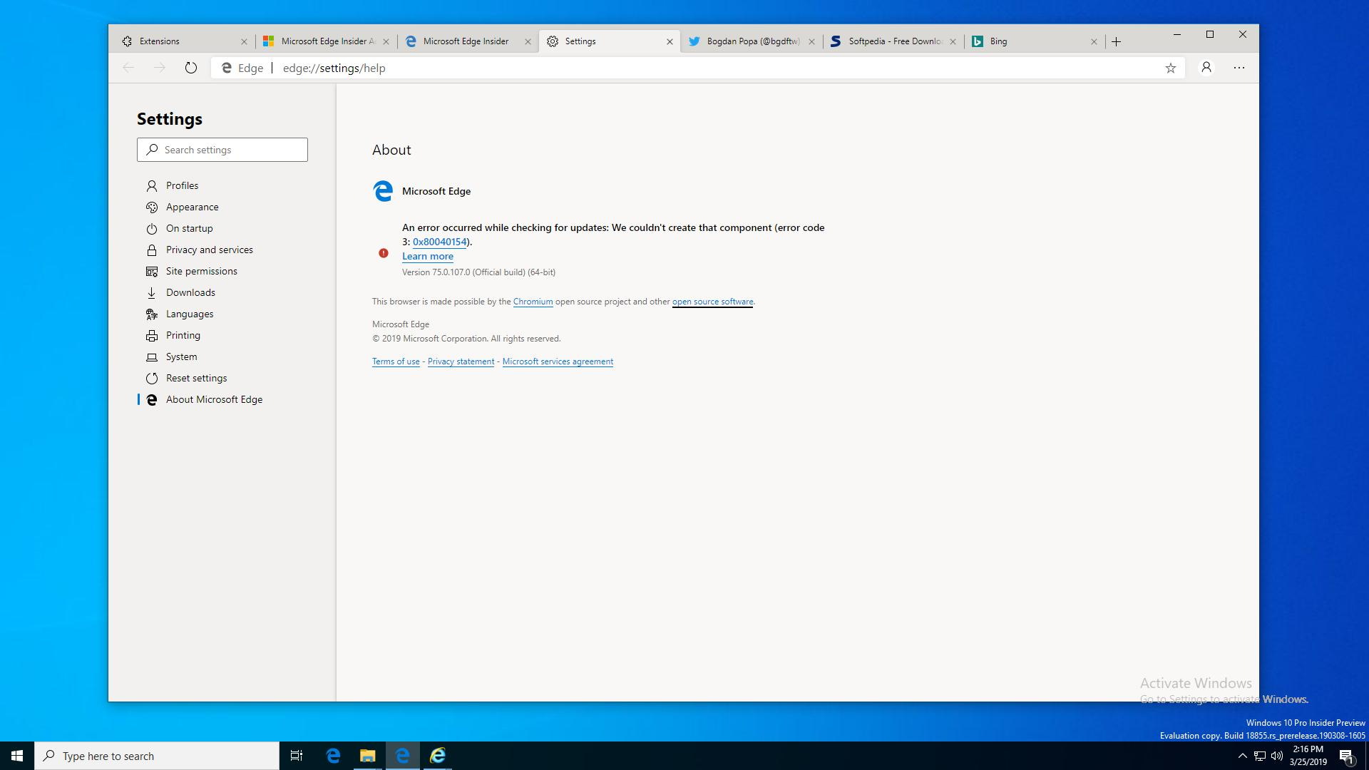 Microsoft Edge Chromium chạy mượt mà trên Windows 7