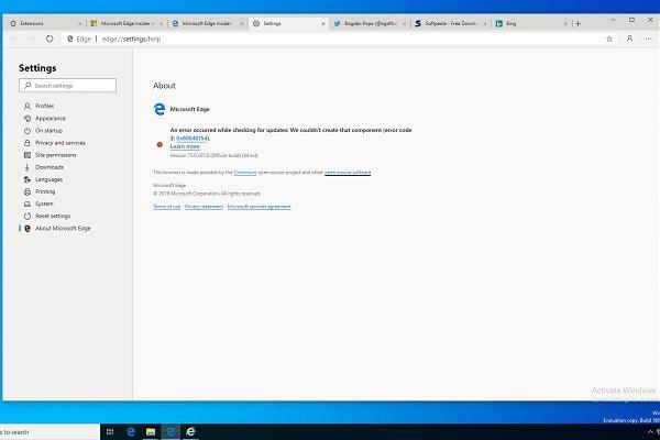 Microsoft Edge nhân Chromium chạy mượt mà trên Windows 7