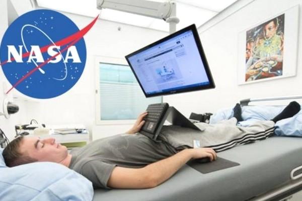 NASA thuê người nằm thấp đầu trên giường 2 tháng, trả 19.000 USD