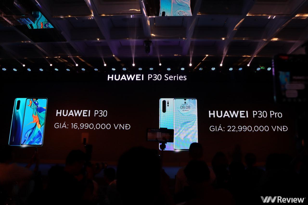 Huawei P30 và P30 Pro chính thức ra mắt tại Việt Nam với giá 16,99 triệu đồng và 22,99 triệu đồng, bán ra từ 13/4