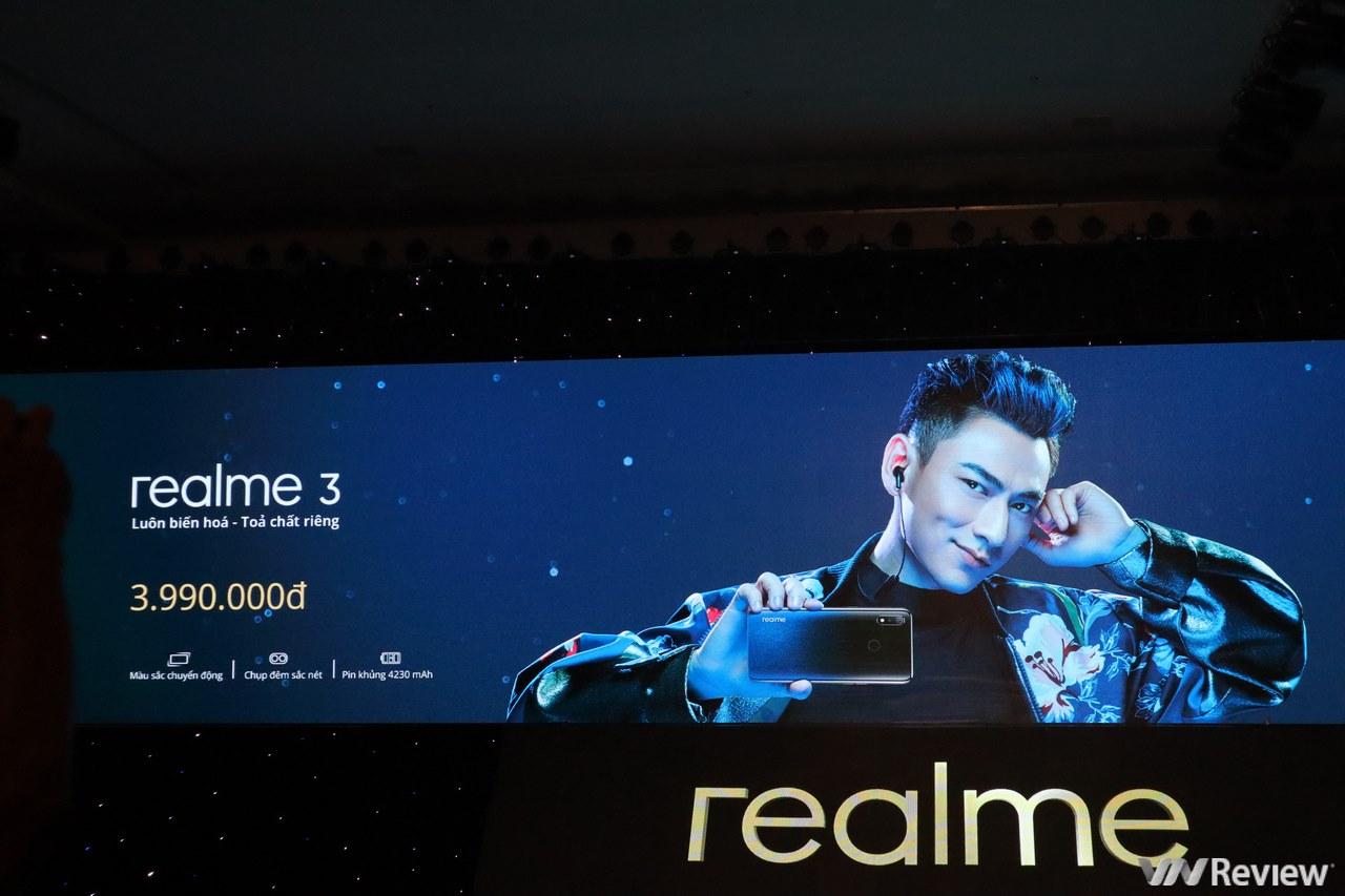 Realme 3 chính thức ra mắt tại Việt Nam với giá 3,99 triệu đồng, bán ra từ 13/4