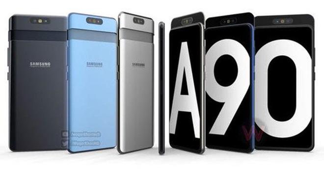 Samsung Galaxy A90 lộ diện với camera trượt xoay cực dị, sẽ là smartphone đầu tiên dùng Snapdragon 7150?