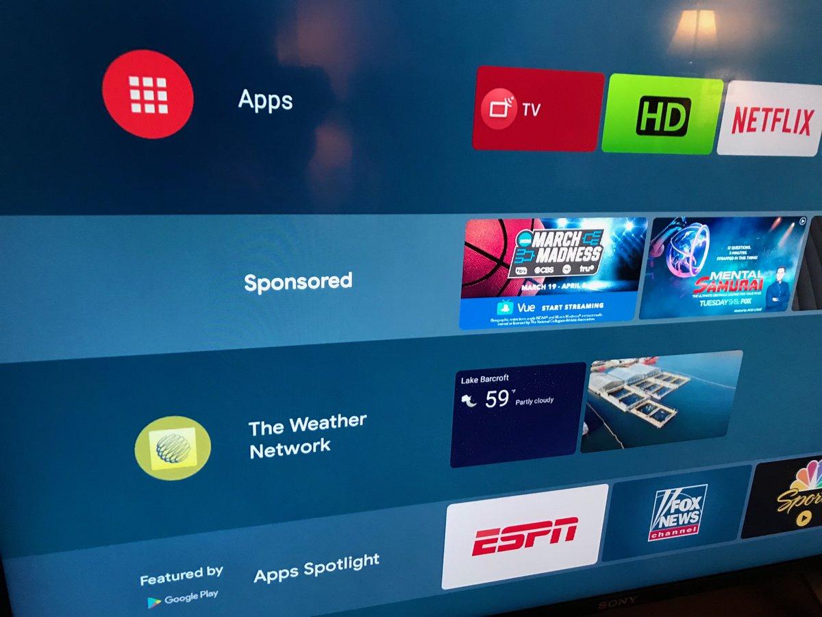 Google biến màn hình chủ của Android TV thành nơi quảng cáo, TV Sony và Mi Box 3 đã 'dính'